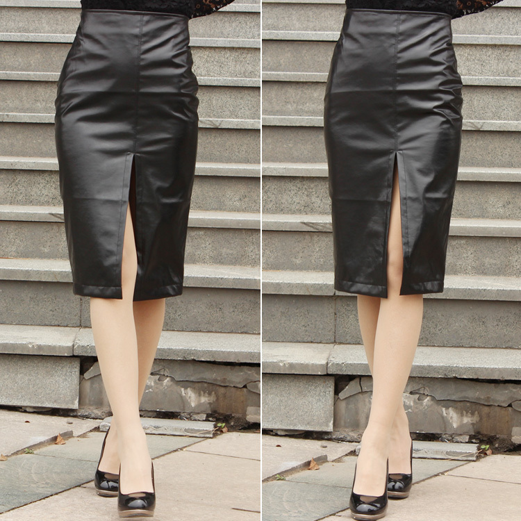 Aliexpress.com : Buy PU Leather Skirt 2015 New Faux Leather Pencil ...