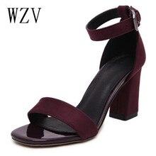 WZV Femme D'été Gladiateur Femmes Sandales sexy Peep Toe Cheville Strap talon haut des femmes chaussures sandales Cadeau chaussettes sandalias de salto