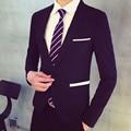 Мужчины Вечернее Платье Пиджак Плюс Размер 2016 зимняя Мода Свадебные Tuxedo Мужчин Slim Fit Бизнес Blazer Куртка Бесплатная доставка