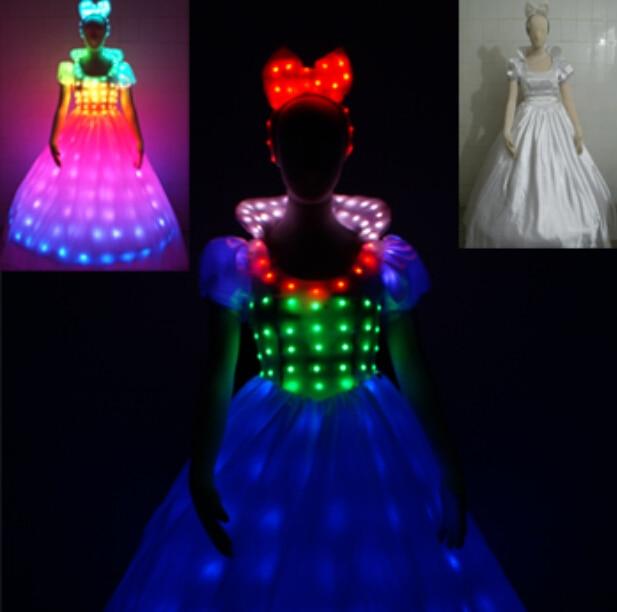 LED Bühne fluoreszierende Kostüme Anzug leuchtende Kleid zeigen - Partyartikel und Dekoration - Foto 3