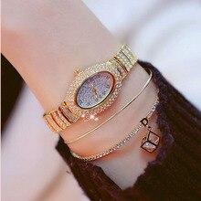 2019 New Hot Sale Oval Gold Silver Crystal Elegant Strap High-grade Quartz Female Watch Chronograph Fashion & Casual Alloy