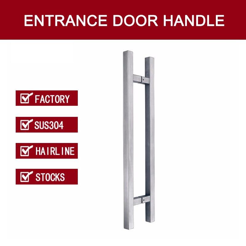 Entrance Door Handle Made Of 304 Stainless Steel For All Doors PA-190-Hairline european modern bronze doors handle chinese antique glass door handle door handle carving