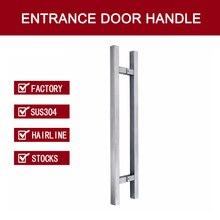 Входная дверь ручки сделаны с 304 Нержавеющая сталь для всех Дверные рамы PA-190-Hairline