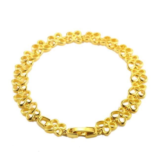 2019 Hot sale new arrive  Gold-color lady Flower Bracelet jewelry Manufacturer Sells Korean Bracelet Directly FY52