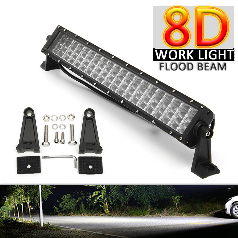 Off-road vehicle 22Inch LED Light Bar Flood Beam 8D Work lamp 4-Row IP68 Waterproof Light Bar universal for Car Truck Boat brand new universal 40 w 6 inch 12 v led car work light daytime running lights combo light off road 4 x 4 truck light