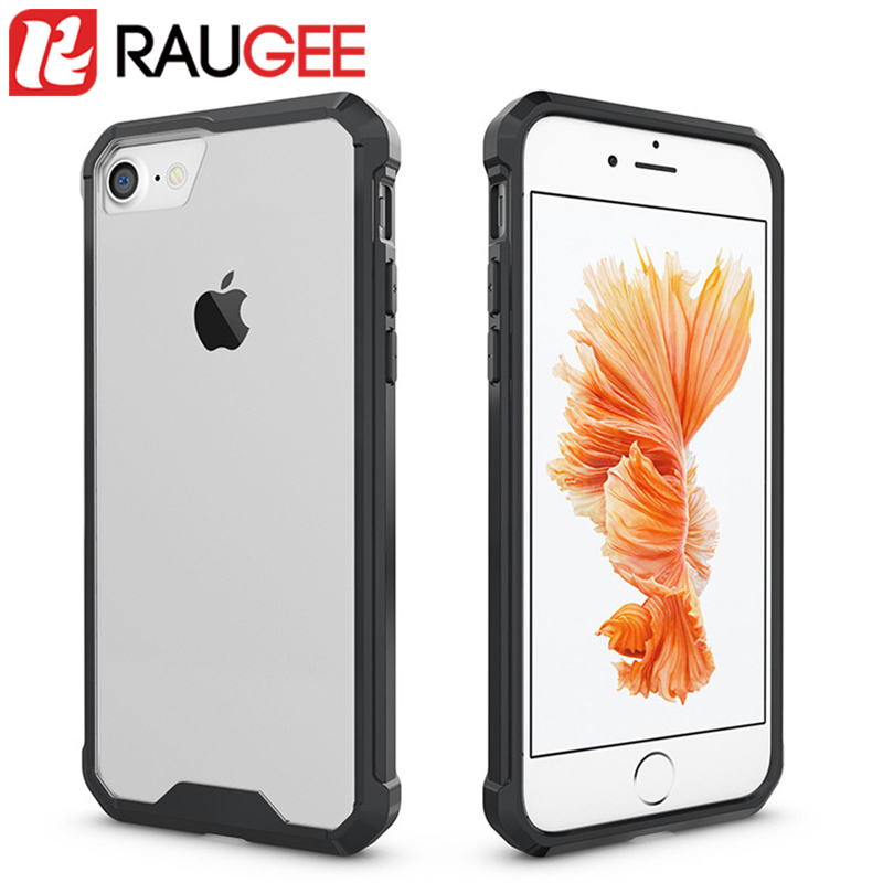RAUGEE Newly PC+TPU Frame Phone Case For Apple iPhone 7 High Quality 4.7 inch Anti-knock Back Cover Protective Case for iphone 7