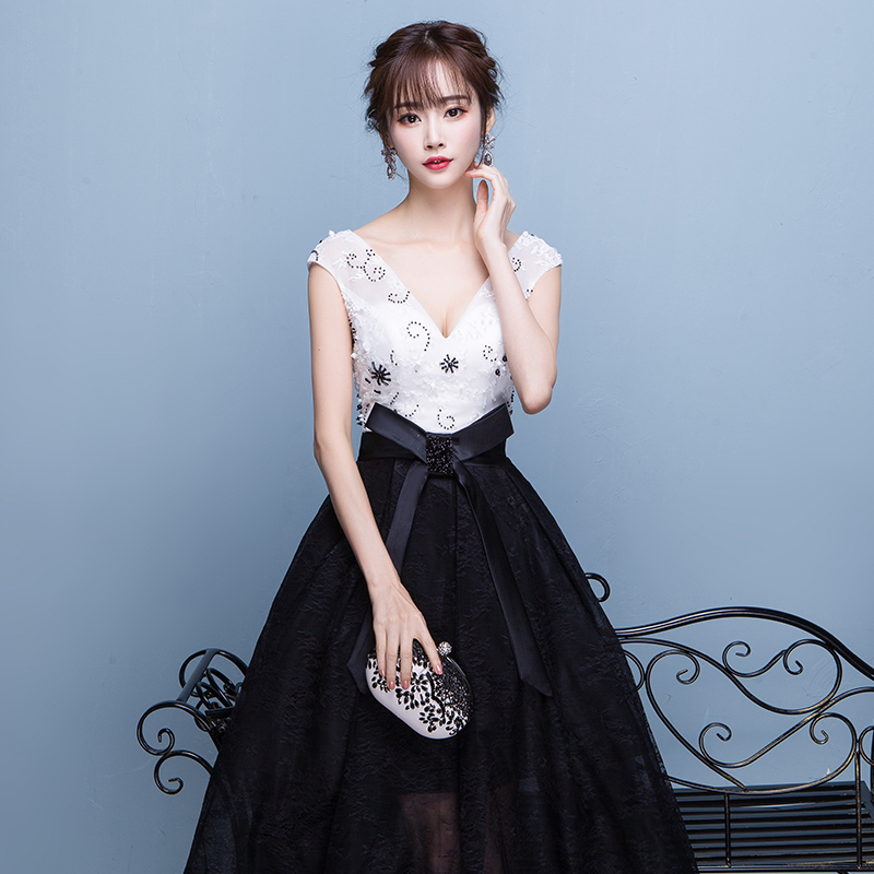 Prom Kjoler 2019 Mote Te Lengde Sexy V-Neck Formell Kjole Elegant - Spesielle anledninger kjoler - Bilde 2