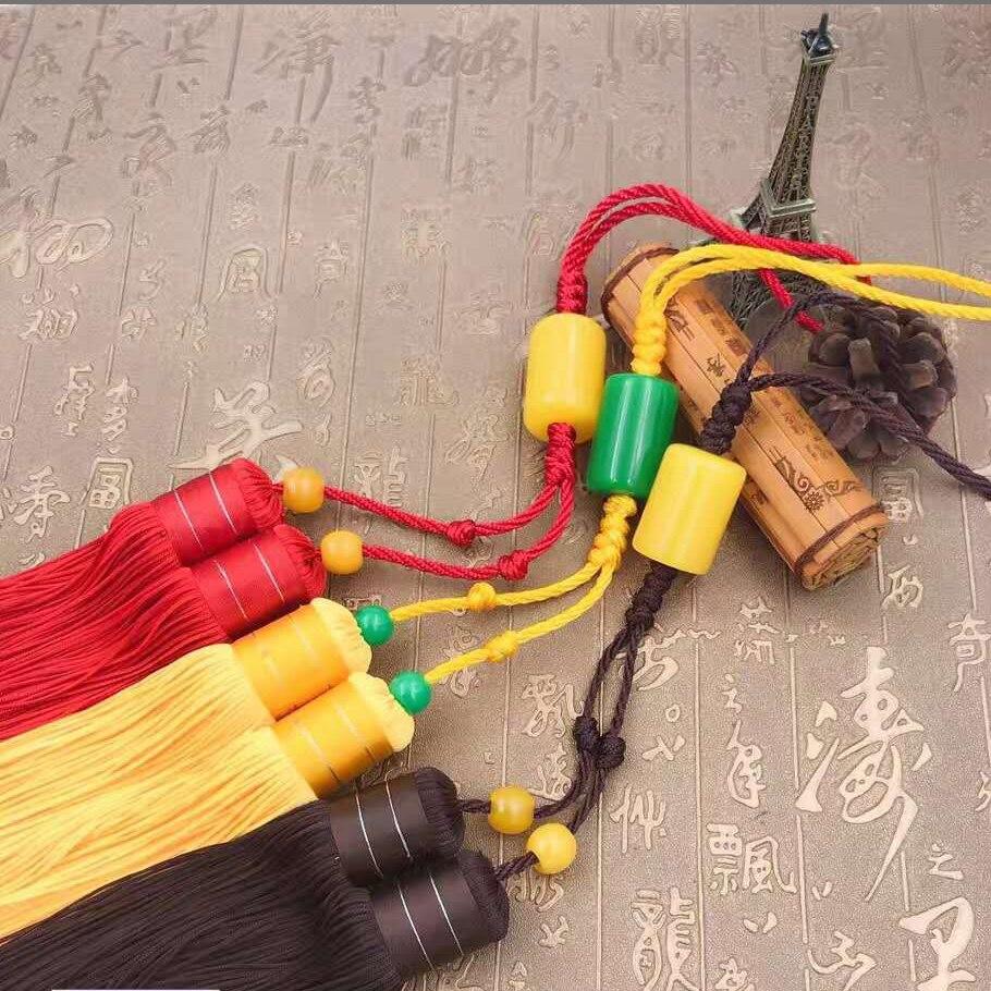 Kun Master Tai Chi Or Kung Fu Sword Tassel Martial Arts Sword Tassel Red Yellow Brown Color