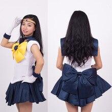 Высокое качество аниме Сейлор Мун Харука tenoh/Сейлор Уран Косплэй костюм на заказ платье для детей и взрослых XS-3XL