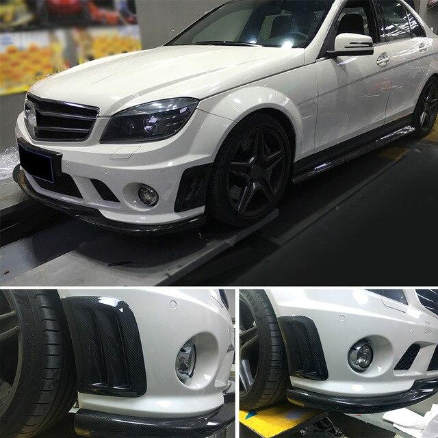 Panneau de pare-choc avant en Fiber de carbone   Pare-choc et ailes dair latéraux, garniture pour Benz classe C W204 C63 AMG 2008 - 2011 style de voiture