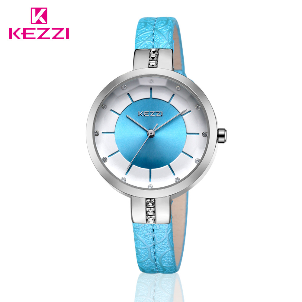 KEZZI Brand Big Dial Women Watches Ladies Crystal Leather Dress Wrist watch Female Clock relogio feminino horloges vrouwen Party цена