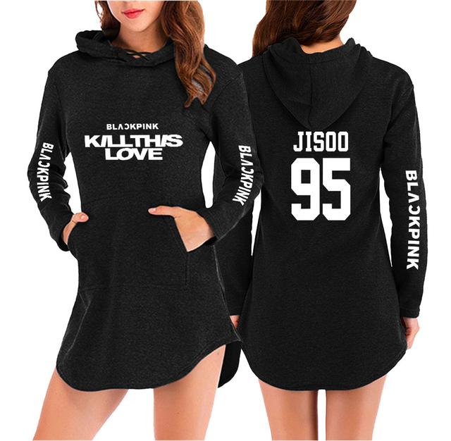 BLACKPINK KILLTHISLOVE HOODED DRESS (20 VARIAN)