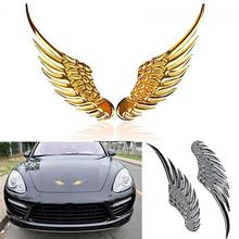 Cool 3 Car Metal Eagle Wing Emblem Badge Trunk Auto Sticker Vehicle Decal Decor cool wing style reflective car sticker yellow