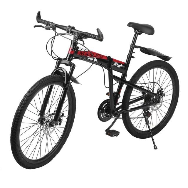 Высокоуглеродистая Сталь двойной дисковые тормоза с переменной Скорость складной Велосипедный Спорт спереди и сзади механические тормоза горы гоночный велосипед Лидер продаж