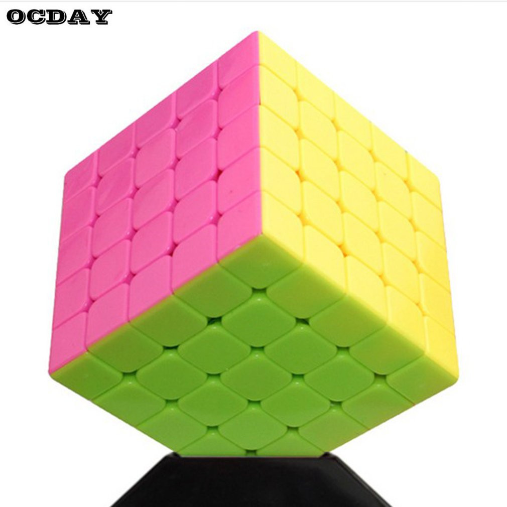 OCDAY Magic Square 5x5x5 Stickerless Speed Cube 62mm Early Educational Cubo Magic Puzzle Toys For Kids Baby Fidget Magic Blocks