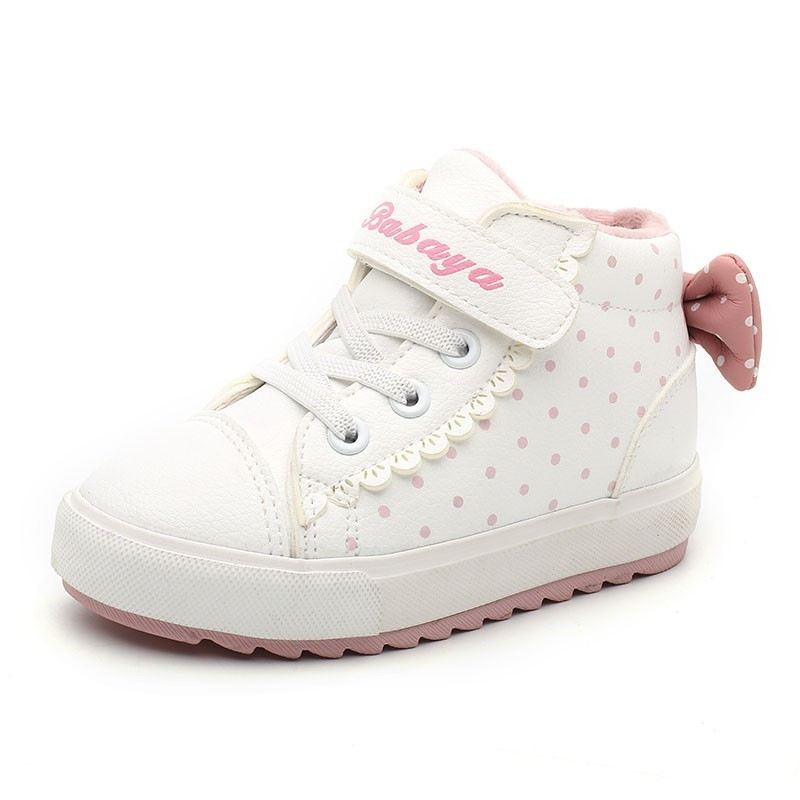 Image 2 - Children Shoes Girl 2018 Winter New Increase Down Thickening Casual Shoes Protect Warm Winter Snowfield Cotton Boots-in Sneakers from Mother & Kids