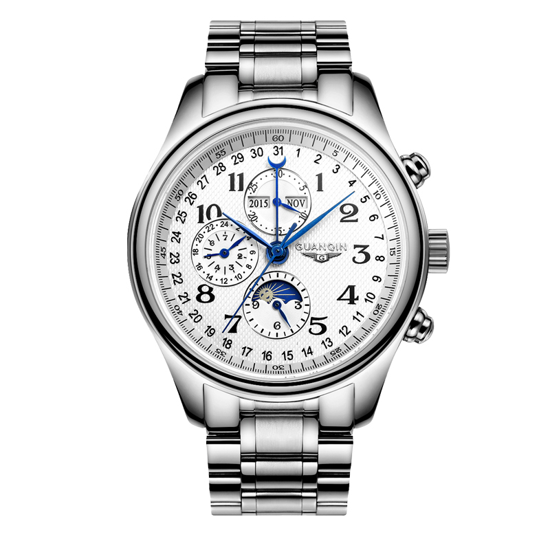 GUANQIN GJ16011 watches men luxury brand Automatic mechanical watch Waterproof Men
