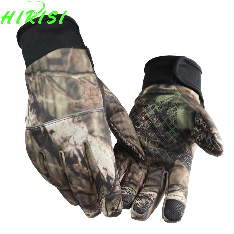 Camouflage Fishing Gloves Screen Touch Hunting Gloves Outdoor Sporting Camping SML