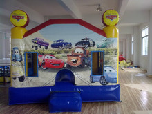 PVC3x3X3meter tarpaulin inflatable bouncers with slide for kids and baby
