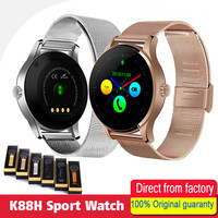 SIAJE Smart Watch k88h shows round screen support bluetooth heart rate monitor for ios android smart watch pk kw18 GT88