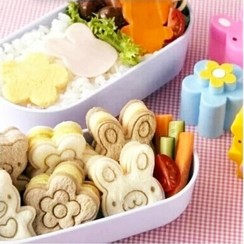 3pcs japanese kawaii style bread cheese meat food cutter sandwish form maker for bento lunch box. Black Bedroom Furniture Sets. Home Design Ideas