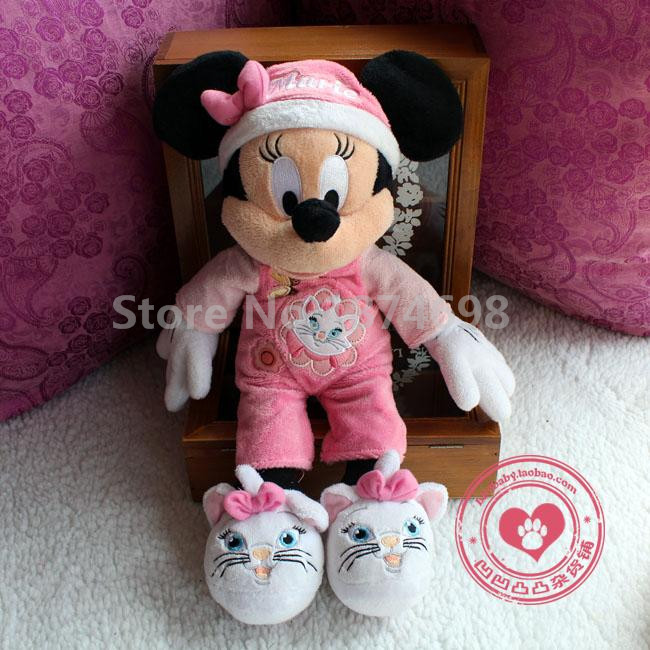 44e00da507a New Goodnight Mickey In Pluto Minnie In Marie Pajamas Outfit Plush Toys  40cm Cute Stuffed Kids Dolls Baby Children Gifts-in Stuffed   Plush Animals  from ...