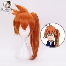 Anime My Hero Academia Itsuka Kendo Cosplay Wigs 50cm 20inch Heat Resistant Synthetic Hair Perucas Wig + Cap