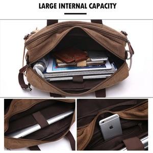 Image 4 - Mannen Canvas Aktetas Reistassen Koffer Klassieke Messenger Schoudertas Tote Handtas Grote Casual Zakelijke Laptop Pocket XA138ZC