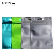 8.5*13cm 100pcs/lot Matte Front Clear Aluminum Foil Plastic Zip Lock Packing Bag Heat Sealable Mylar Package