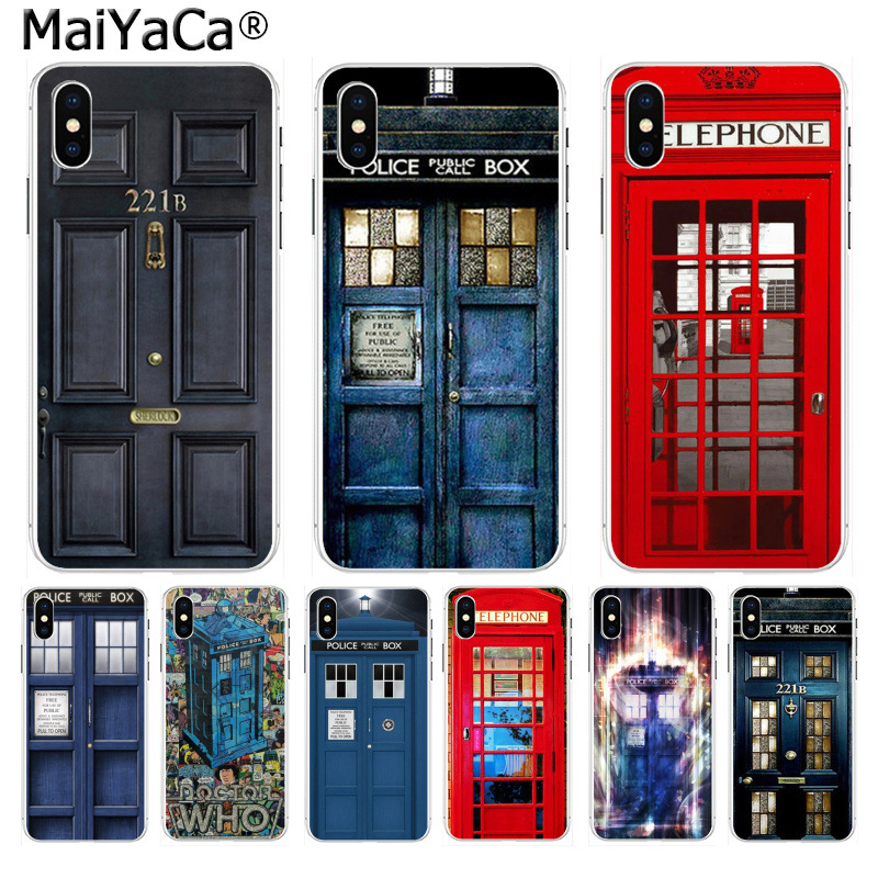 Discreet Maiyaca Doctor Who Phone Booth Police Box 221b Door Soft Tpu Silicone Phone Cover For Iphone 8 7 6 6s Plus X Xs Max 10 55s Se Xr Half-wrapped Case Phone Bags & Cases