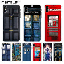 MaiYaCa doctor who Phone Booth Police Box 221B Door Soft TPU silicone Phone Cover for iPhone 8 7 6 6S Plus X XS max 10 55S SE XR(China)