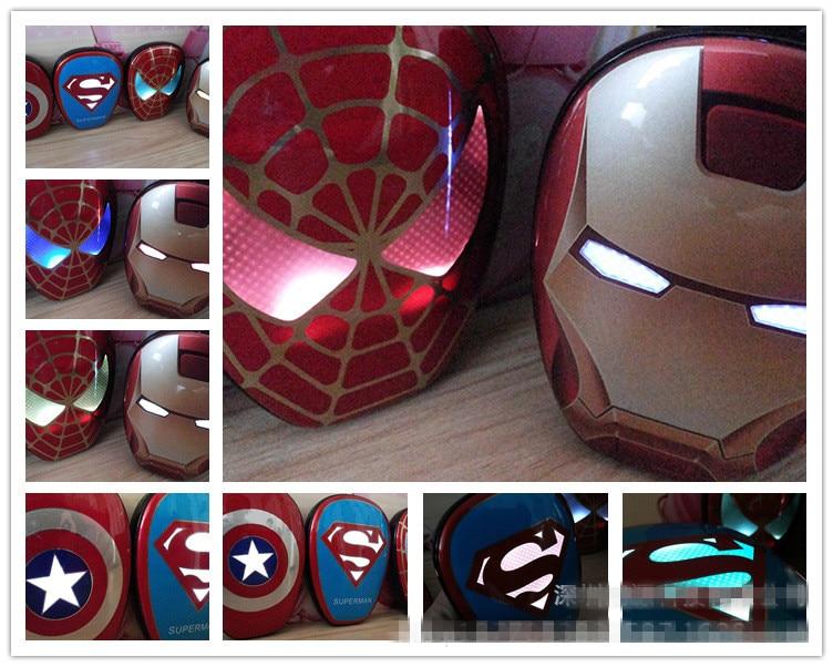 6000 mah Cool Portable Power <font><b>Bank</b></font> Enough capacity The Avengers Captain America Iron Man Supermen <font><b>spider-man</b></font> Mobile Power Supply