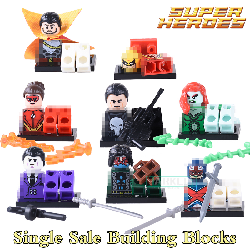 Building Blocks Luchino Nefaria Jesse Quick Punisher Superhero StarWars Model Action Bricks Kids DIY Toys Hobbies PG8060 Figures building blocks firestorm captain booster cold elektra super hero starwars set bricks dolls kids diy toys hobbies pg8079 figures