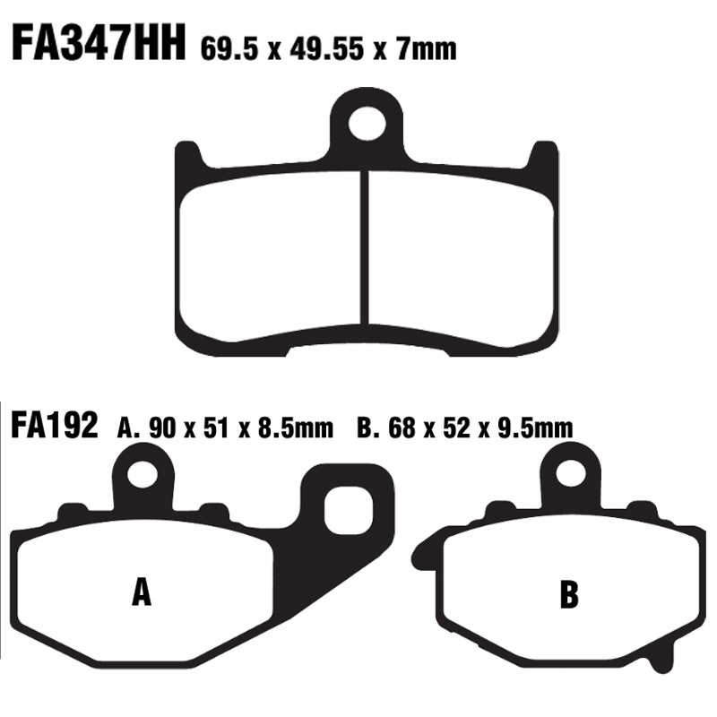 For Kawasaki ZX9R ( ZX 900 ZX900 F1/F2 ) 2002 2003 2004 ZX-9R ZX 9R Motorcycle Brake Pads Front Rear