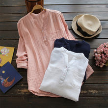 ZOGAA Oversize Shirts Female Lady Casual Long Sleeve Pocket Summer Tops Plus Size Women Cotton Linen Blouse 5XL Blusas 2019