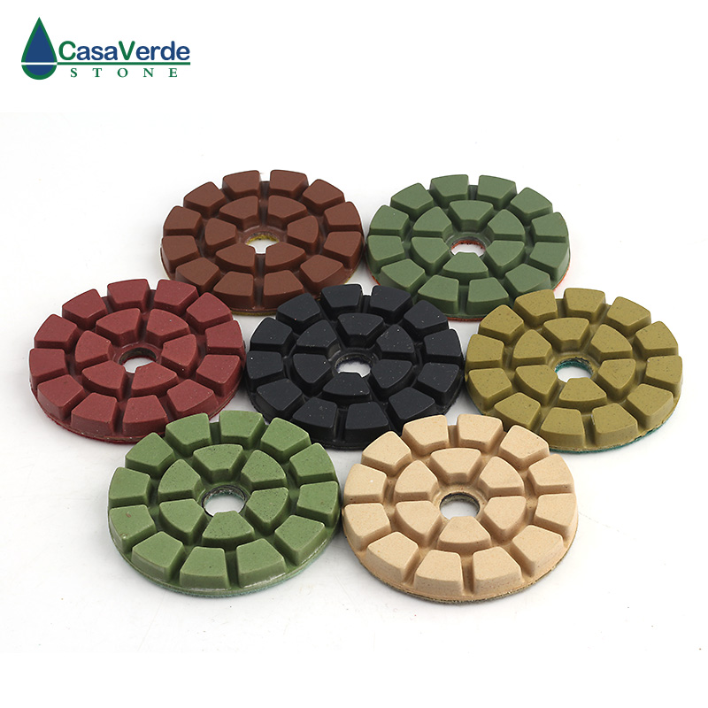 Free shipping 4 inch diamond floor abrasive pads 100mm wet polishing for granite concrete