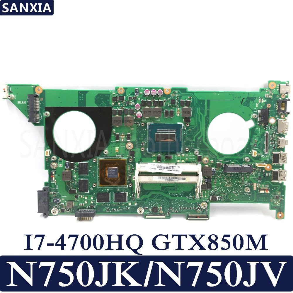 KEFU N750JK/N750JV Laptop motherboard for ASUS N750JK N750JV N750J N750 Test original mainboard I7-4700HQ GTX850M