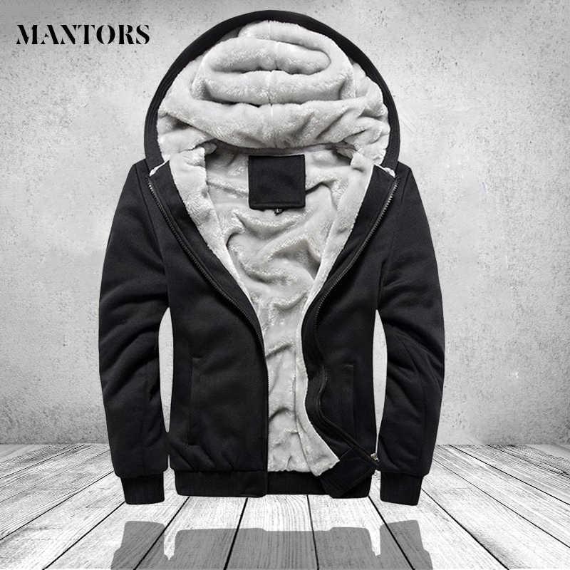 暖かいジャケット男性因果パーカー hombre 男性フリースフード付きジャケット冬コート男性スウェットシャツオーバーコート上着ブランド男性服