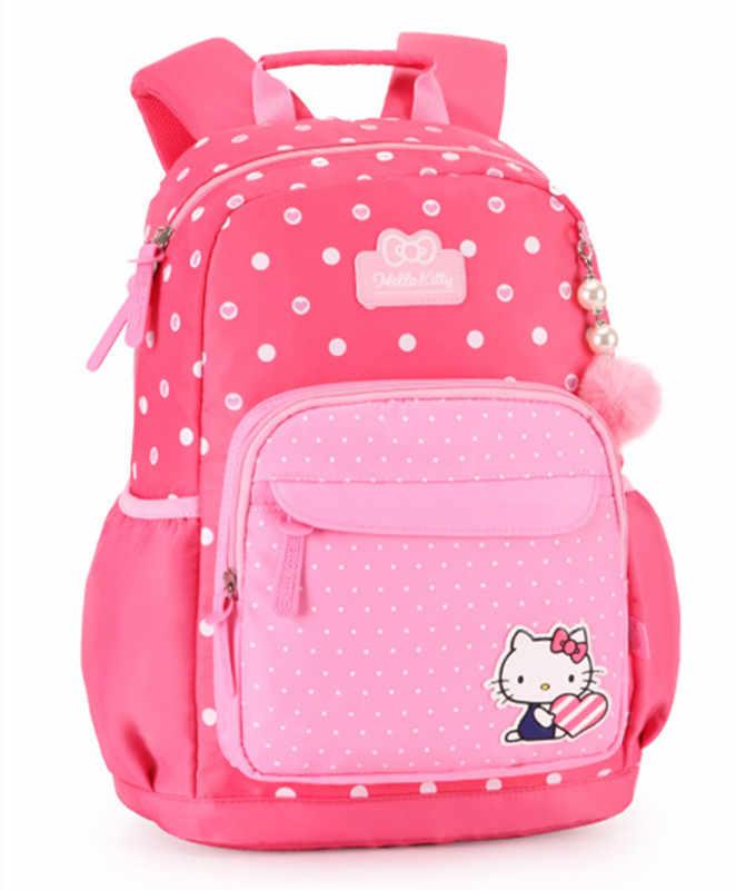 a77d01ff4b ... Hello Kitty Bag Primary Elementary School Backpacks Children School Bags  for Girls Orthopedic Backpack Kids Schoolbag ...