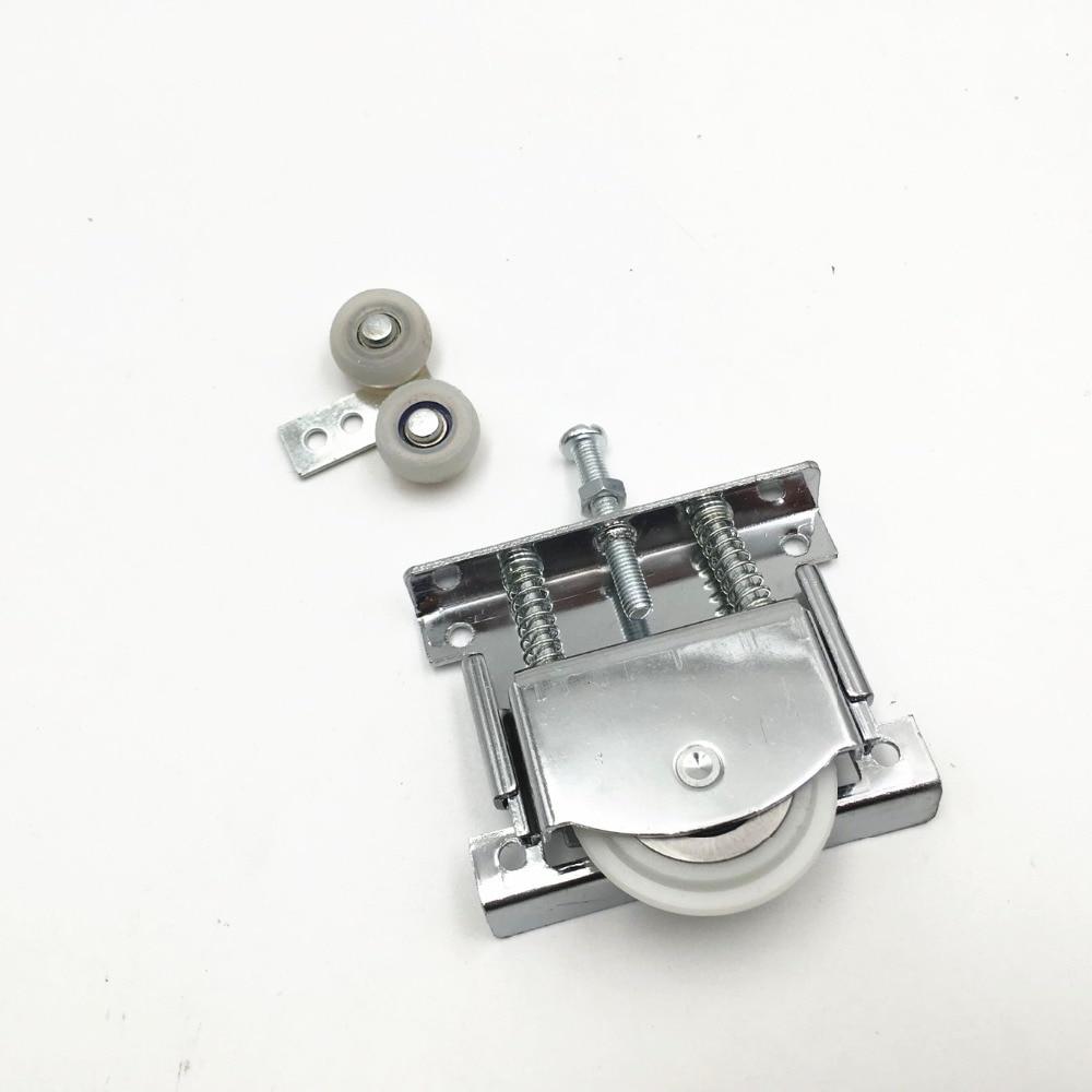 2X Sliding Door Roller Cabinet Nylon Caster Wheel Pulley For Wardrobe Furniture