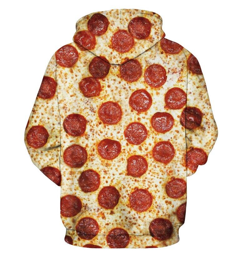 Sudadera Pizza Capucha Hombres Con Pepperoni Harajuku 4qxdpg Mujeres 1Hwq1OB