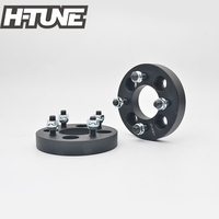 H TUNE 4PCS Forged Aluminum Black 4x100 67.1CB 25mm Wheel Spacers Adapters fit for most 4 Lug
