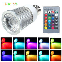 E27 9 W Dim RGB LED Ampul IP30 28 Keys Kablosuz Uzaktan Kumanda ile Renkli Işık Spot Ampul Aydınlatma AC85-265V