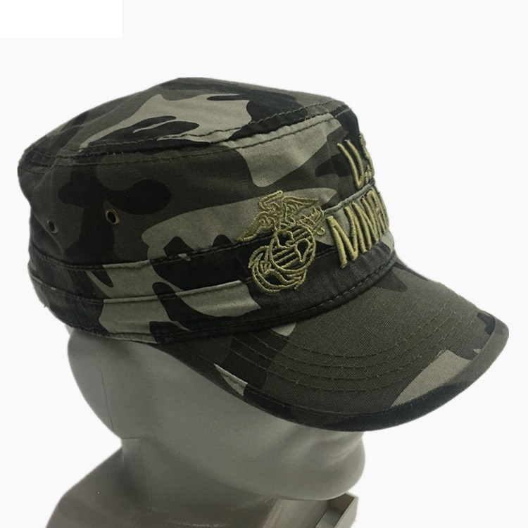 fd9c39c443c New Men s Army US AIRFORCE   MARINE Eagle Snapback Flat Top Hats Adjustable Camouflage  Black Navy   AIRBORNE Army Baseball Cap