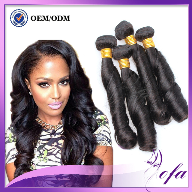 Good Quality Virgin Brazilian Spring Curl Aunty Funmi Bouncy Curls Cheap  Weave Online For Beautiful Women Dark Brown Weave cbb00e134a
