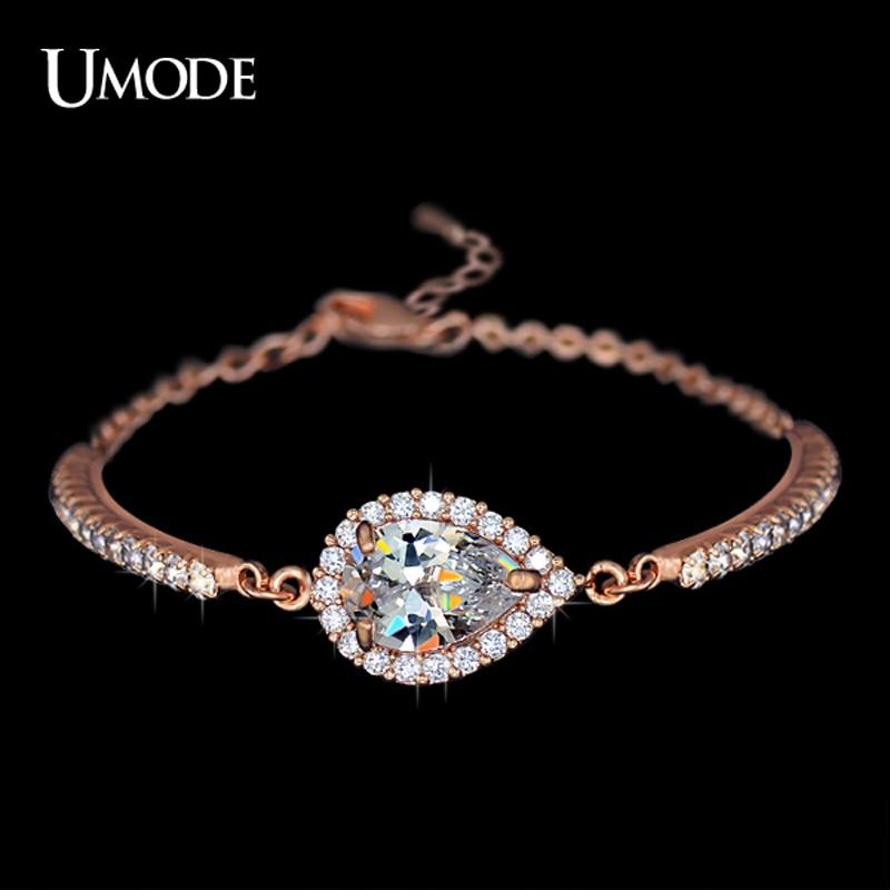 font b UMODE b font Brand Jewelry Fashion Austrian Rhinestones Chain font b Bracelets b