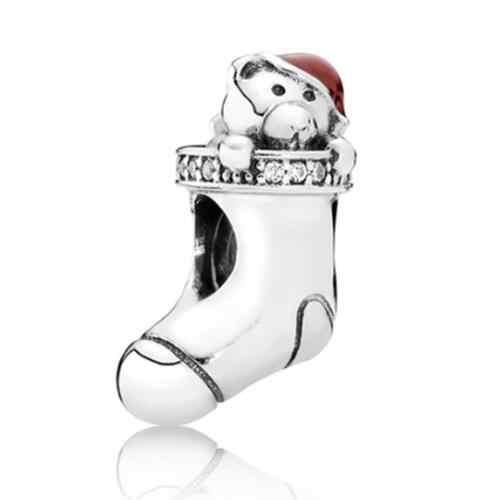 Простой стиль милые животные собака кошка сова замок Любовь Сердце Бусины-подвески из сплава Fit Pandora оригинальные браслеты женские DIY Ювелирные изделия Berloque