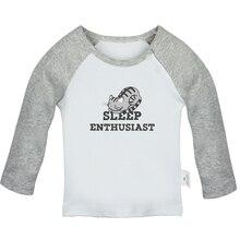 Футболка для новорожденных с надписью «Sleep Enthusiast» и надписью «Nap Beer Pun Love is Heart Coldplay»; футболка с длинными рукавами для малышей