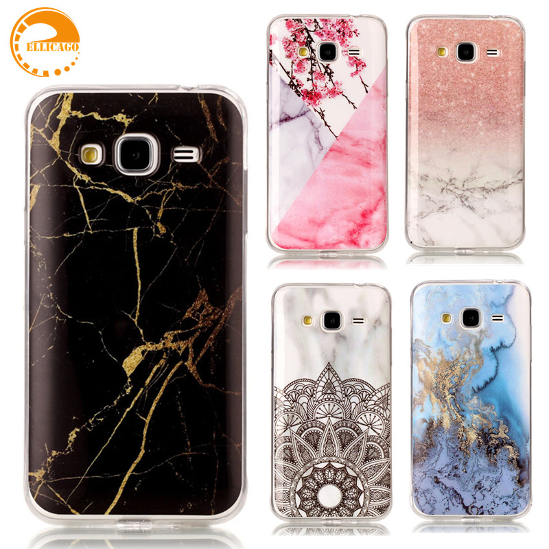 ellicago for coque samsung galaxy j3 2016 case cover for samsung j3 2016 case marble stone phone