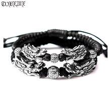 Браслет серебряного Дракона 999 ручной работы браслет из чистого
